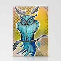 Blue Owl Stationery Cards