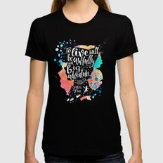 Peter Pan - To Live Womens Fitted Tee Black SMALL