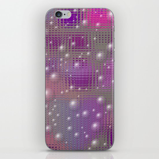 Disco made of purple bubbles iPhone & iPod Skin
