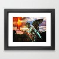 Burning Angel Framed Art Print