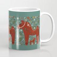Jolly Dala Horse  Mug