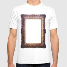 Frame White SMALL Mens Fitted Tee