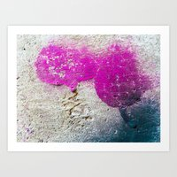 Magenta Rounded Drips Art Print