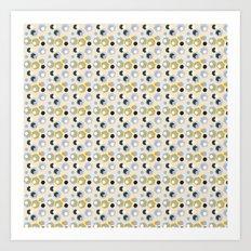 Fun hexagons Art Print