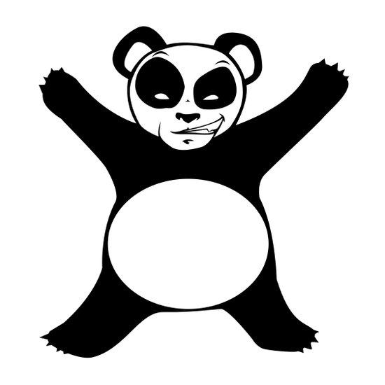 Panda Love Hug Art Print