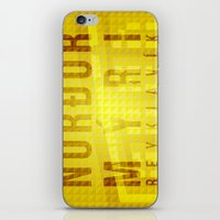 Nordurmyri Yellow iPhone & iPod Skin