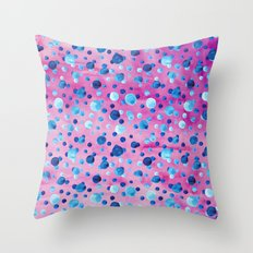 Polka Dot Pattern 06 Throw Pillow