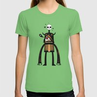 Moon Catcher Brothers  Womens Fitted Tee Grass SMALL