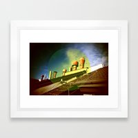 And Even The Sky Was Gol… Framed Art Print