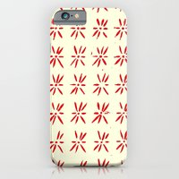 iPhone & iPod Case featuring LCD red by Elisa Sandoval