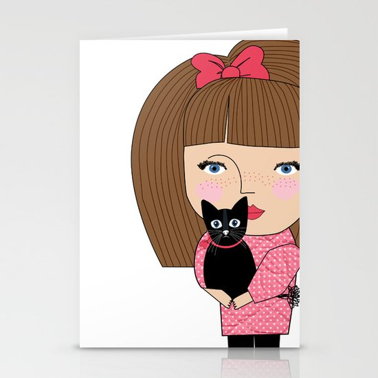 Mss Cat Stationery Card