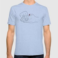 Real Finger Trick Mens Fitted Tee Athletic Blue SMALL