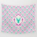 Oh Deer (teal) Wall Tapestry