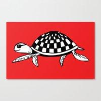Checkershell Canvas Print