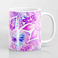 Purple Blue Henna Boho F… Mug