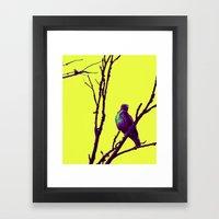 purp hawk Framed Art Print