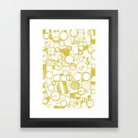 Golden Doodle circles Framed Art Print