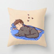 Sleepy Time! Throw Pillow