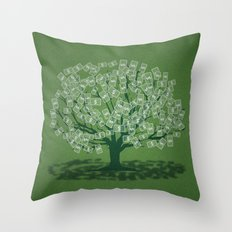 Money Tree Throw Pillow