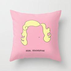 Ms. Monroe Throw Pillow