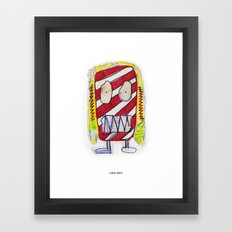 Recess Girl with Too Many Fruit Roll-Ups Framed Art Print