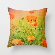 Throw Pillow featuring POPPIES by Teresa Chipperfield …