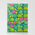 Frogs pattern Stationery Cards