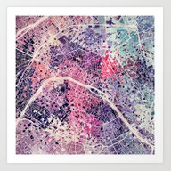 Paris Mosaic Art Print
