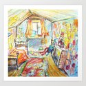 Ron Weasley's Bedroom Art Print