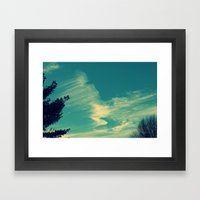 Happy Blue Sky Framed Art Print