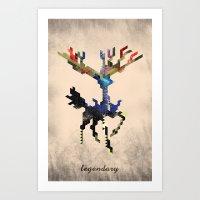 I Am Legendary X - Geometric Art Print