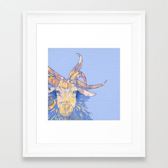 5-horned Goat Framed Art Print