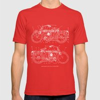 Motorcycle blueprint Mens Fitted Tee Red SMALL