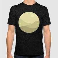 Minimal Meadow Day Mens Fitted Tee Tri-Black SMALL