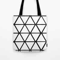 WHITE & BLACK TRIANGLES  Tote Bag