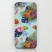 iPhone & iPod Case featuring TROPICAL FLORAL by Nika