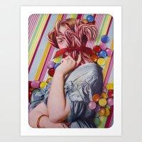 Sacchrine | Collage Art Print