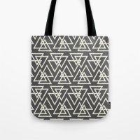 Trilogy Triangles-Dark G… Tote Bag