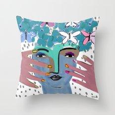 Gaia--Earth Goddess Throw Pillow