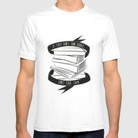 If They Don't Have Books… Mens Fitted Tee White SMALL