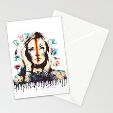 Drips of color Stationery Cards