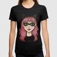 Faye Womens Fitted Tee Tri-Black SMALL