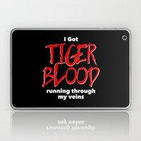 Tiger Blood On Black Laptop & iPad Skin