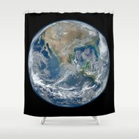 The Blue Marble Shower Curtain