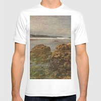 Shoreline Dreams Mens Fitted Tee White SMALL