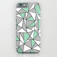 Abstraction Lines with Mint Blocks Slim Case iPhone 6s