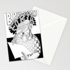 Branco fobia Stationery Cards