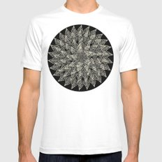 Leaf White Mens Fitted Tee SMALL