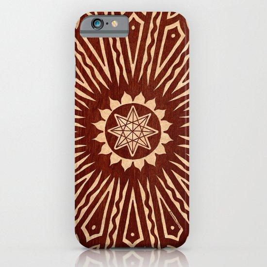 ozorahmi wood mandala iPhone & iPod Case