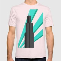 Sears Tower Mens Fitted Tee Light Pink SMALL